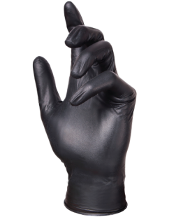 Titan Black Gloves 100qty medium