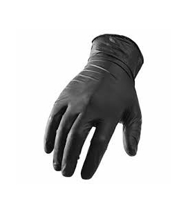 Powder Free Nitrile Black Gloves 100qty Extra Large
