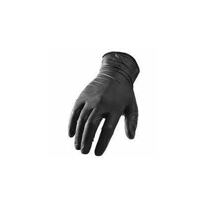 Powder Free Nitrile Black Gloves 100qty Extra Large