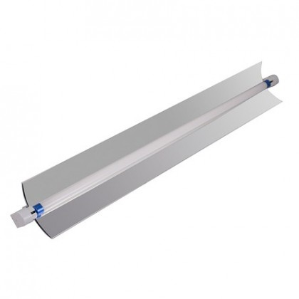 T5 single strip light fixture with reflector 2'