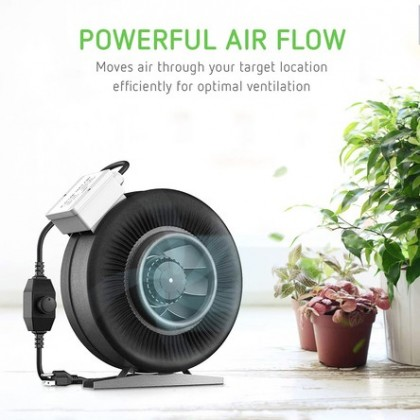 """Inline Fan 10"""" With Speed Controller"""