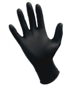 Powder-Free Nitrile Black Gloves 100qty - Large