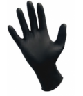 Powder Free Nitrile Black Gloves 100qty Large